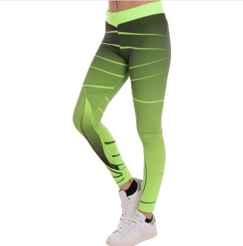 D & A Leggings im Neon-Design - neon, grey