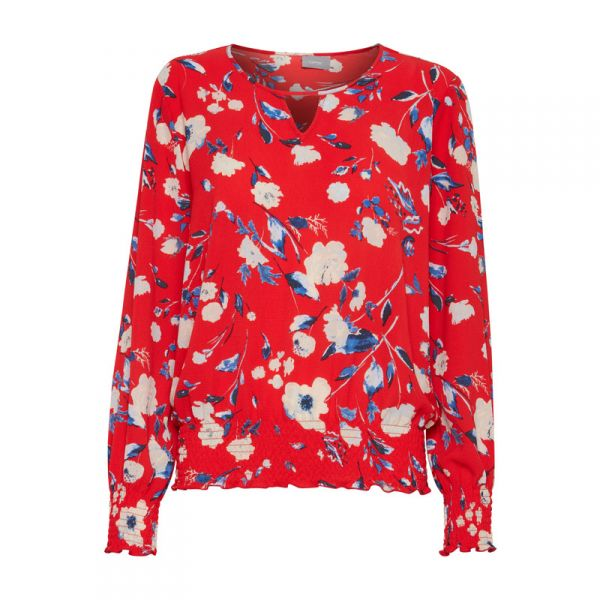 "b.young Bluse ""Franny printed"" - red"
