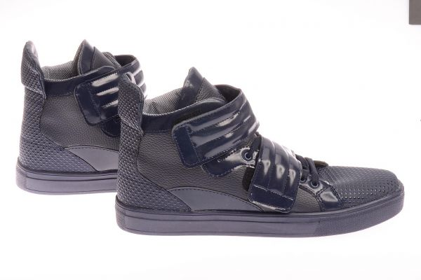 "Sportliche High-Top Sneaker ""Flux"" - blue 3001"