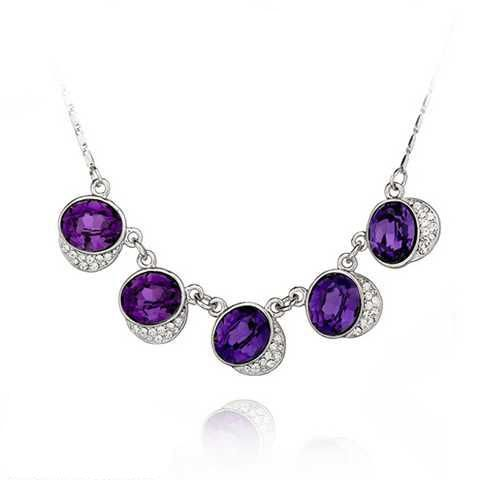 Pattino Gatto Purple Collier silver