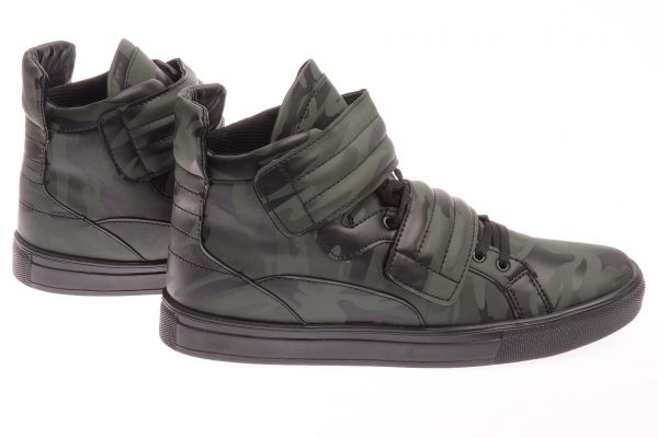 "Sportliche High-Top Sneaker ""Pampelmuse"" - camouflage 3001"