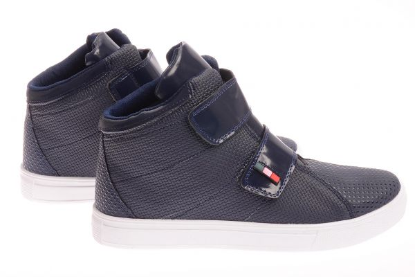"Sportliche High-Top Sneaker ""Orient"" - blue 1107 15"