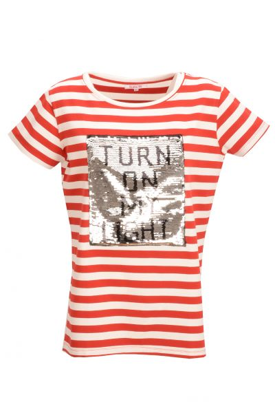 "Bluoltre ""Turn on"" T-shirt gestreift - red/white"