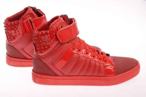 "Sportliche High-Top Sneaker ""Squirrel"" - red 3004"