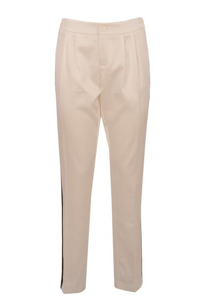 BeLounged Shiny Pants- Offwhite/Schwarz