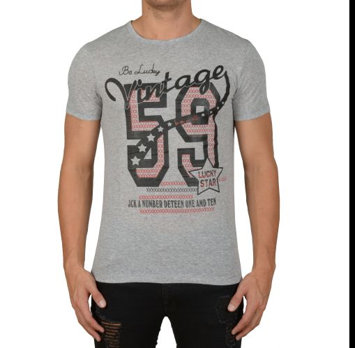 "D & A Slim-fit T-Shirt ""59 Vintage"" - white, black, grey, anthracite"