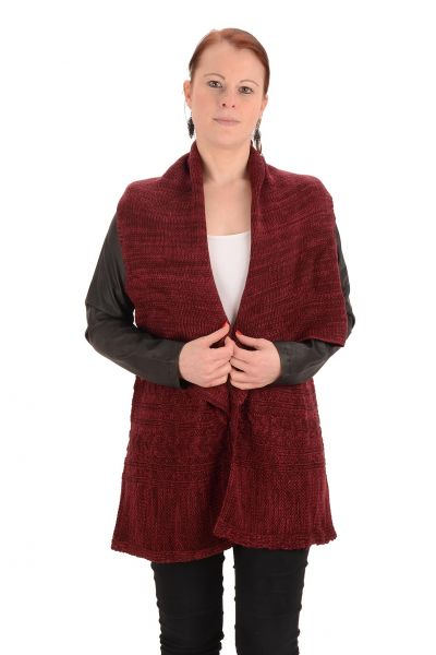 "Laura Scott Cardigan ""Cuddly"" - bordeaux"