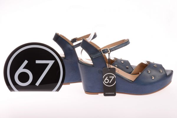 "Sixtyseven Collection ""Vachetta"" mit Nieten - blue"