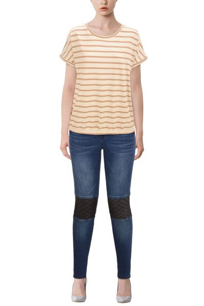 """b.young Oversize T-Shirt """"Sandrie"""" - beige, red, blue"""