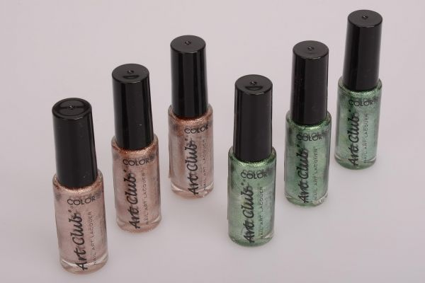 6x 7ml Nagellack - copper chrome/green - Mod. 103393