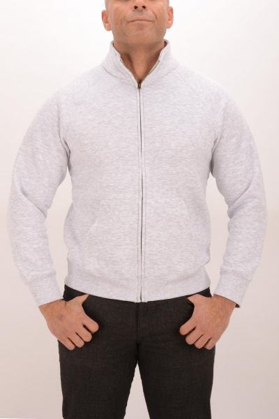Fruit of the Loom Zip-Sweatshirt - grey
