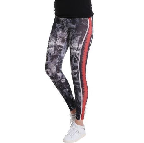 D & A Leggings im technical Design - black, multi