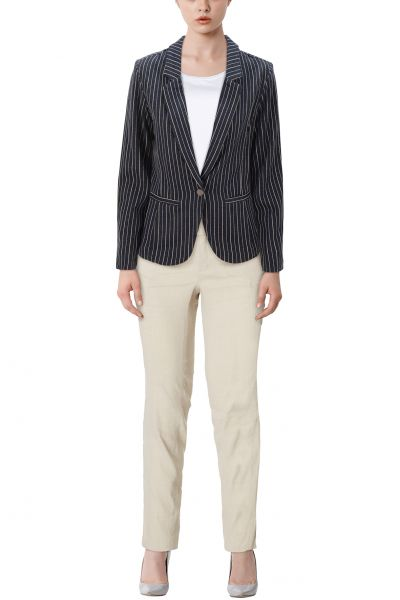 "Fransa ""Mipin"" Blazer - blue, stripes"