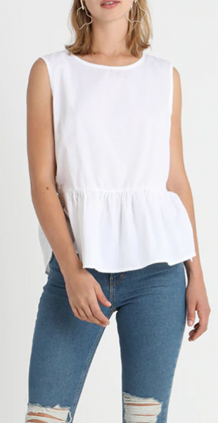 "b.young ""Idila"" Top - white"