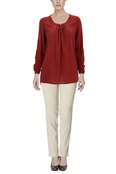 *GEHEIMTIPP* Bluse Essential - winered