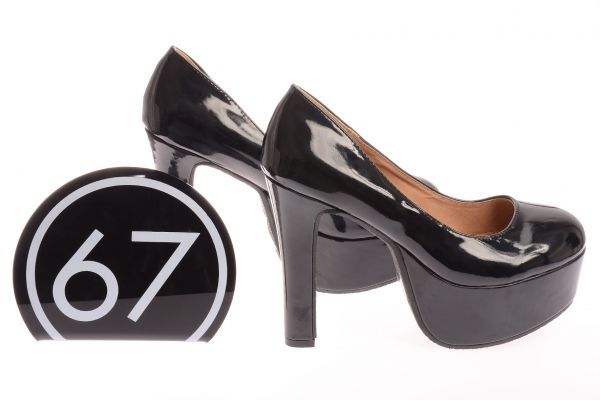 "Sixtyseven Pumps ""Falk"" beschichtet - black"