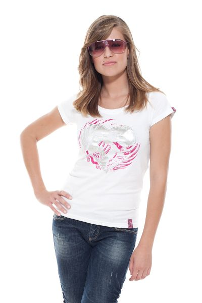 """Collection 69 T-Shirt """"Flying Love"""" - weiß/silber"""