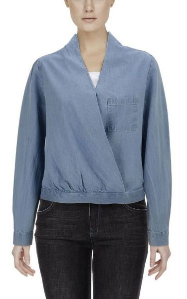 Schlupfbluse in Denim-Look - china blue