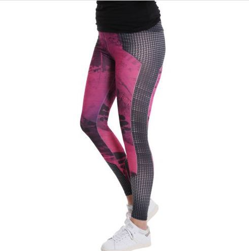D & A Leggings im technical Design - black, pink