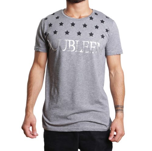 "D & A Slim-Fit T-Shirt ""Oubleem"" - grey, anthracite, black"