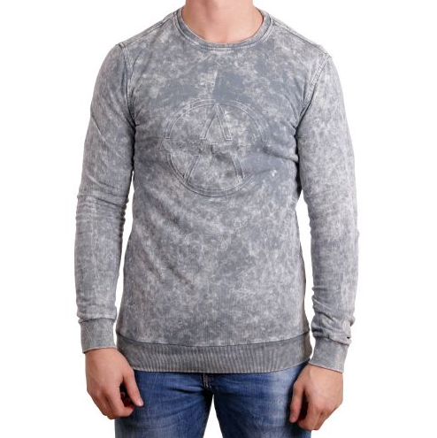 D & A Sweatshirt mit Camo-Muster - grey/anthracite