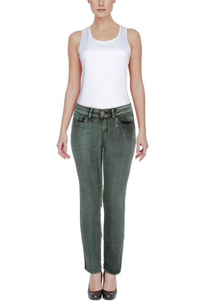 *GEHEIMTIPP* Slim-Fit Jeans - middle green