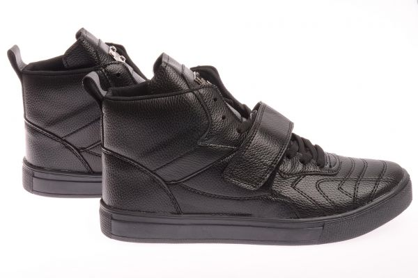 "Sportliche High-Top Sneaker ""Performance"" - schwarz"