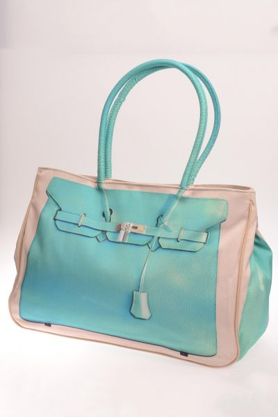 Modische Shopping-Bag - blue