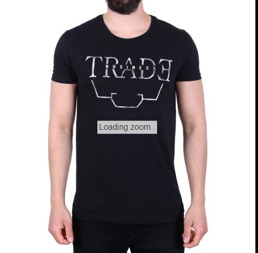 "D & A Slim-Fit T-Shirt ""Trade Business"" - white, black, grey"