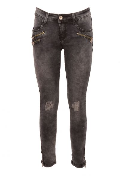 "*GEHEIMTIPP* Ripped Jeans ""Ella"" - dark grey"