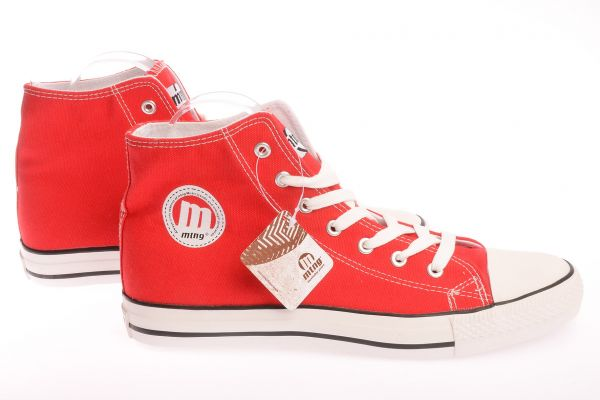 MTNG Mid Cut Sneaker im Canvas Design - red