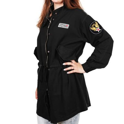 "D & A Ladies Übergangsjacke ""Army"" - black"