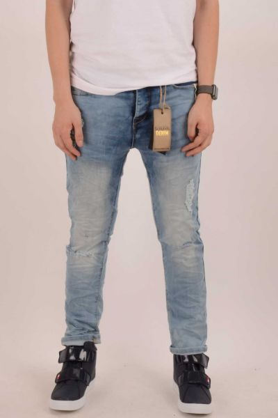 """*GEHEIMTIPP* Ripped Slim-Fit Jeans """"Rise"""" - middle blue"""