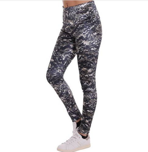 D & A Lady's Performance Leggings - retro design black/green