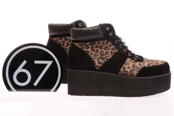 "Sixtyseven High-Top Sneaker ""Leopard"" - Drums/black"