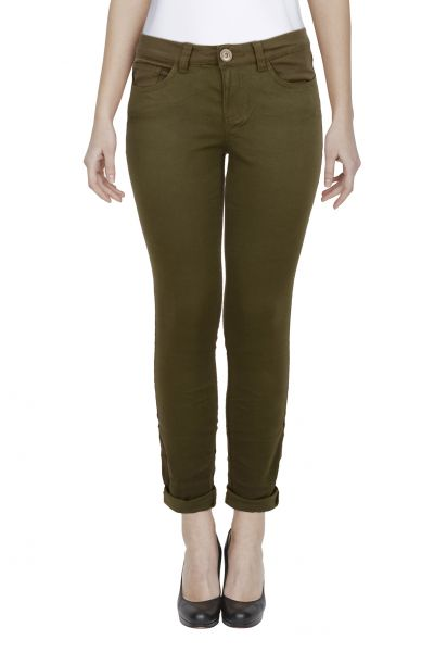 *GEHEIMTIPP' Skinny Fit Jeans - middle green