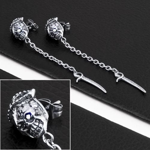 Pattino Gatto Pirate Eye silver