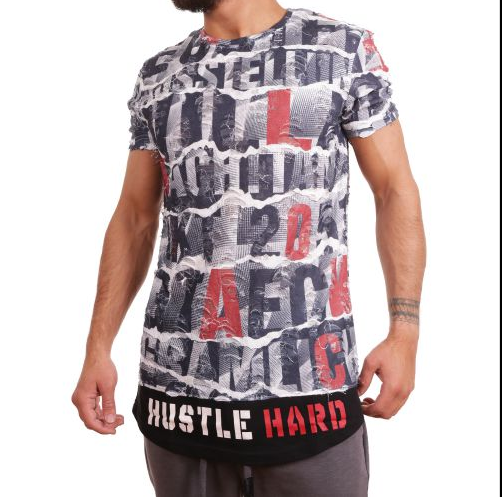 D & A Lifestyle Hustle Hard 4 - grey-red