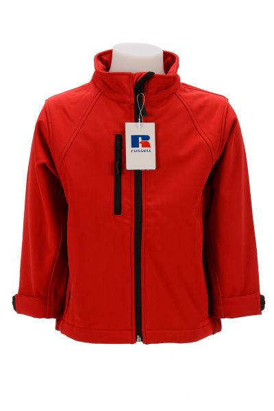 RUSSELL KIDS SOFTSHELL JACKET RED