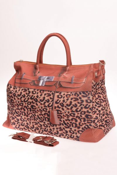 Modische Shopping-Bag - leo print