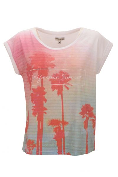 "*GEHEIMTIPP* T-Shirt ""California Sunset"" white"