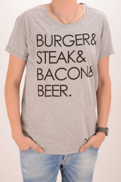 "*GEHEIMTIPP* T-Shirt ""Burger"" - grey"