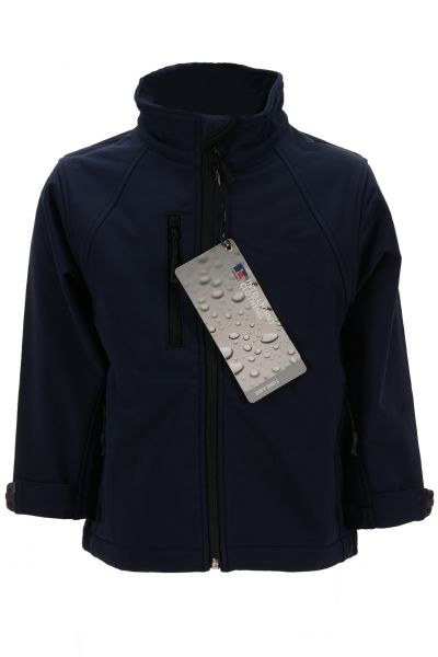 RUSSELL KIDS SOFTSHELL JACKET FRENCH NAVY