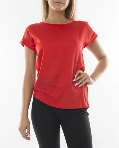 Fransa Omixo T-Shirt - red, navy