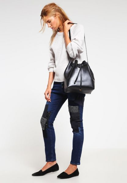 """Replay Jeans """"Pilar"""" boy-fit mit Patches - dark blue"""