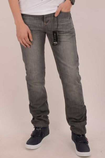 "*GEHEIMTIPP* Straight Cut Jean ""Steven"" - middle grey"