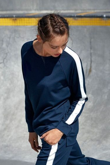 Fransa X Nuterry Oversize Sweat - navy