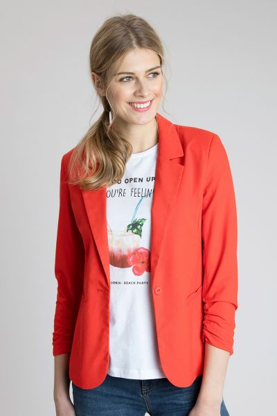 Fransa Oslinen Blazer - bright red