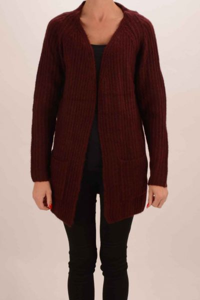 "Fransa ""Jinew 2"" Cardigan - grey/bordeaux"