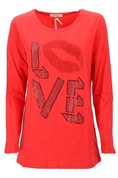 "Longsleeve ""Lips"" - red"